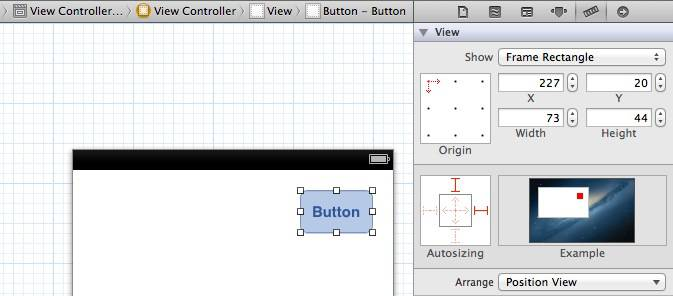 Interface Builder's springs and struts user interface