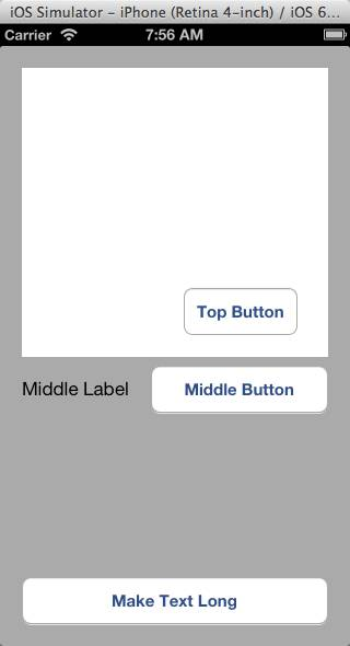 Top button centered above the middle button