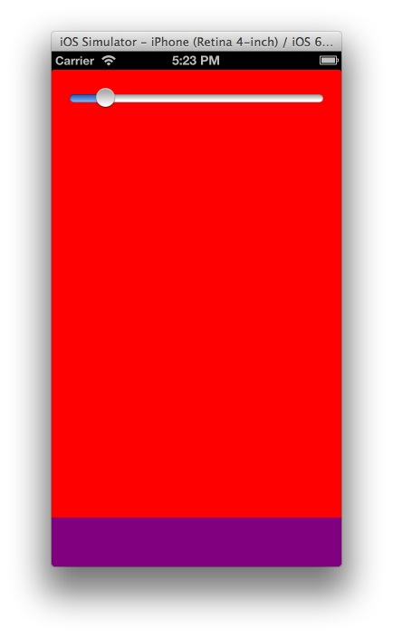 End State with Tall Red UIView